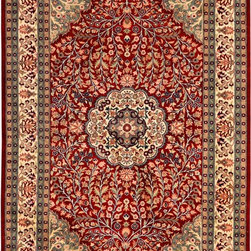 "Red Persian Tree of Life Rug 4' 7"" x 7' 2"" - ALRUG"