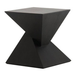 Nuevoliving - Nuevo Living Giza Side Table - Black | Oak - HGEM271