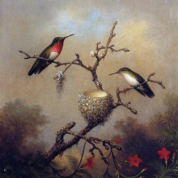 "Art MegaMart - Martin Johnson Heade Ruby-Throated Hummingbird - 20"" x 25"" Premium Canvas Print - 20"" x 25"" Martin Johnson Heade Ruby-Throated Hummingbird premium canvas print reproduced to meet museum quality standards. Our museum quality canvas prints are produced using high-precision print technology for a more accurate reproduction printed on high quality canvas with fade-resistant, archival inks. Our progressive business model allows us to offer works of art to you at the best wholesale pricing, significantly less than art gallery prices, affordable to all. We present a comprehensive collection of exceptional canvas art reproductions by Martin Johnson Heade."