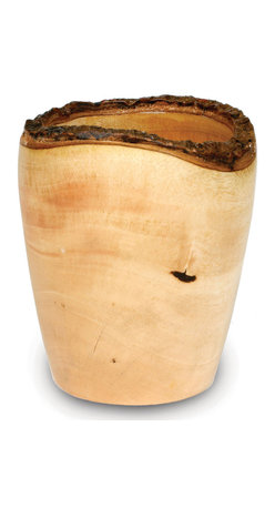Enrico - Mango Wood Utensil Vase - These stylish bowls, dishes, and trays are carved from mango trees grown in Thailands vast mango plantations. The Mango tree bears fruit for about 20 to 30 years, after which time it is cut down by the farmer to make room for new seedlings. The creamy, dense mango wood is then reclaimed by local craftsmen for carving into a wide variety of beautiful products. The artisans working mango wood pay careful attention to the individuality of each and every raw slab of wood that comes into their hands, and the results are wonderful. Each piece in this collection has a live edge of contrasting tree bark around the rim which reminds one that each tree has a character and texture all its own. From the eco-friendly mango collection, this solid mango utensil vase holds a passel of cooking utensils by the stove, a bundle of breadsticks on the table, or even makes a unique vase for dried flower arrangements. As they are hand-carved, each piece is slightly different from the next. These stylish vessels are carved from Mango trees grown in Thailand. Each piece has a live edge of tree bark around the rim that adds to the naturalbeauty. The Mango tree bears fruit for about 40 years, at which time it is cut down by the farmer to make room for new seedlings. The Mango wood is then reclaimed by local craftsmen and carved into a wide variety of beautiful shapes. Food-safe lacquer finish. Hand wash. As in nature, color and shape may vary. Made from environmentally-friendly reclaimed mango wood with an easy care food-safe lacquer finish. Each piece is hand-carved by skilled artisans, so no two are exactly alike. Gorgeous wood grain and a unique natural bark edge make these great for a wide variety of serving and decorative uses. Hand wash for best results - lacquer finish cleans up easily. As in nature, color and shape may vary. Manufacturer: Enrico. Brand: Enrico. Part Number: 2811. UPC: 899172002116