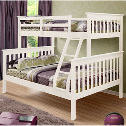 Donco Kids - Donco Kids Twin Over Full Mission Bunk Bed - 122-3H T/F - Shop for Bunk Beds from Hayneedle.com! Who knew sharing a bedroom could actually be pretty cool - that s the magic of the Donco Kids Twin Over Full Mission Bunk Bed. The secret s in the style which combines classic Mission-inspired flair with a full range of finish options - so it s easy to find that perfect fit for your room s color scheme. The twin-over-full design is constructed of solid pine and it comes complete with a top guard rail ladder and 26 slats. Mattresses not included.About Donco Trading Co. Headquartered in Fort Worth Texas Donco Trading Company has made youth furniture their specialty. The family-owned and -operated business carries a full line of day beds platform beds bunk beds and more - all reasonably priced. They distribute to and work directly with small business owners specialty stores and more in locations throughout the country. In addition to the Forth Worth office they also have a distribution center in Kenosha Wisconsin and showrooms in Tupelo Mississippi and High Point North Carolina.
