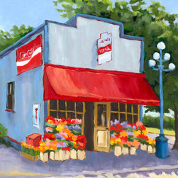 Roweboat Art Inc. - Country Store, Fine Art Reproduction, 16X12 - Original painting reproduction