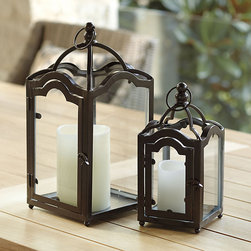 Ballard Designs - Orleans Candle Lantern - This lantern has a little New Orleans culture.