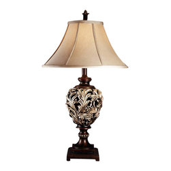"Signature Design by Ashley - 33"" Deborah Set of 2 Table Lamps L302904 - A set of two: Antique silver finish table lamps with gray fabric shades."