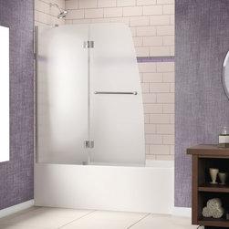 "DreamLine - DreamLine SHDR-3148586-01-FR1 Aqua Tub Door - DreamLine Aqua 48"" Frameless Hinged Tub Door, Frosted 1/4"" Glass Door, Chrome Finish"