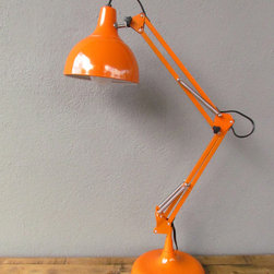 orange task lamp - view this item on our website for more information + purchasing availability: http://redinfred.com/shop/category/detail/lighting/orange-task-lamp/