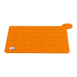 "Blomus - Lap Coaster Potholder, Orange - The Lap Coaster/Potholder by Blomus is made of Silicone and Stainless Steel. Slip resistant surface easily grips pots as a potholder or protects surfaces as a coaster.Size: 7.9"" x 7.9"" inches (20L x 20W x .5 cm)"