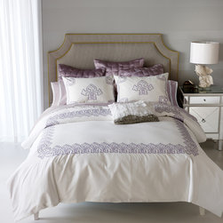 Blissliving Home - Daliya Thistle Duvet Cover Set - Daliya Thistle Duvet Cover Set