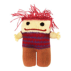 Sitara Collections - Hand-Knitted Punk Doll - For the tot Who's Not afraid to Show some Persomality! our Loveable Little Punk Doll is a Fun Departure From Everyday Stuffed toys, with a Thatch of Colorful Hair and a Charismatic Expressiom. Hand-Knit Quality is in Every Detail of this Unique new Friend. the Doll is also Reversible with a Completely Different Look! amazingly soft Butter Fabric soft, Squishy Fill Machine washable Set includes: ome (1) Plush Punk Stuffed toy Materials: Dyed acrylic Wool, Polyester Fiber Fill Stuffing, Thread Embroidery Color: Multicolored Dimensioms: 8.00 inches High X 7.00 inches Wide X 2.50 inches Deep Weight: 0.65 Pounds.