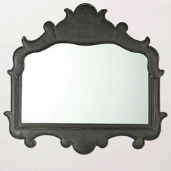 Bowmont Mirror - This would be beautiful in a foyer with some coat hooks and a bench underneath. I love the rich, charcoal finish.