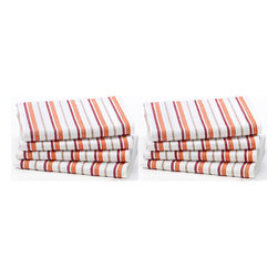 None - Celebration 8-piece Stripe Kitchen Oversized Towel Set - This basket-weave patterned dish cloth set is designed with a hanging loop for customized accessorizing. Featuring high quality woven construction,the celebration 8-piece stripe kitchen oversized towel set is ideal for everyday use.