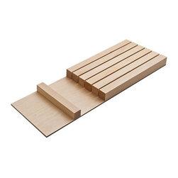 Hafele - Fineline 16.69 in. Knife Block - Warranty: One year. Made from birch wood. 16.69 in. L x 5.43 in. W x 1.02 in. H