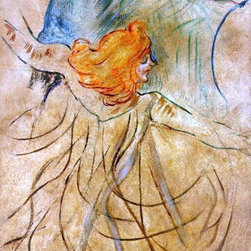 """Henri De Toulouse-Lautrec At the Music Hall - Loie Fuller   Print - 16"""" x 24"""" Henri De Toulouse-Lautrec At the Music Hall - Loie Fuller premium archival print reproduced to meet museum quality standards. Our museum quality archival prints are produced using high-precision print technology for a more accurate reproduction printed on high quality, heavyweight matte presentation paper with fade-resistant, archival inks. Our progressive business model allows us to offer works of art to you at the best wholesale pricing, significantly less than art gallery prices, affordable to all. This line of artwork is produced with extra white border space (if you choose to have it framed, for your framer to work with to frame properly or utilize a larger mat and/or frame).  We present a comprehensive collection of exceptional art reproductions byHenri De Toulouse-Lautrec."""