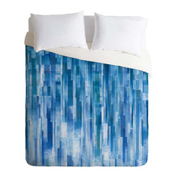 DENY Designs - DENY Designs Jacqueline Maldonado Rain Duvet Cover - Lightweight - Turn your basic, boring down comforter into the super stylish focal point of your bedroom. Our Lightweight Duvet is made from an ultra soft, lightweight woven polyester, ivory-colored top with a 100% polyester, ivory-colored bottom. They include a hidden zipper with interior corner ties to secure your comforter. It is comfy, fade-resistant, machine washable and custom printed for each and every customer. If you're looking for a heavier duvet option, be sure to check out our Luxe Duvets!
