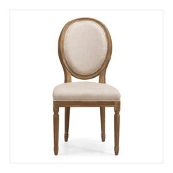 Zuo - The O'Farrell Chair by Zuo Era - Pick this classic chair for your dining room with plush cushioning for comfort and easy beige tones that will fit in with any decor. Made from oak with a poly-linen fabric back and seat, it will make you want to linger.