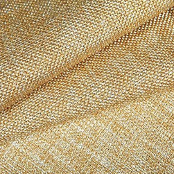 Salvinetti Upholstery Fabric in Creme - Salvinetti Upholstery Fabric in Creme is an off white textured fabric with golden threads woven throughout, creating a beautiful sheen. This tweed-like fabric is far from plain, but is understated enough to create the perfect backdrop for interior designs. Ideal for upholstery, bedding, or pillows. Made from a blend of 60% polyester and 40% rayon, this fabric passes 51,000 double rubs on the Wyzenbeek abrasion test. Width: 55″ Available in 4 colors.