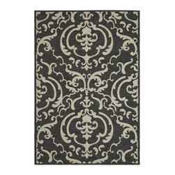 Safavieh - Safavieh Courtyard Cy2663-3908 Sand / Black Area Rug - Traditional patterns and classic beauty are found in the area rugs of the Courtyard collection. Made in Belgium of enhanced polypropylene, these rugs are extremely durable and perfect for indoor or outdoor use. The area rugs of the Safavieh Courtyard collection offer highly detailed and sophisticated designs created through an unusual sisal weave. Select the colors, design, and style that will compliment any room in your home in round, rectangular or runner rugs.