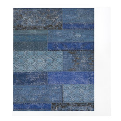 Cadiz Wool Rug, Ink - A mix of blues sets the mood and can add interest to an otherwise neutral space.