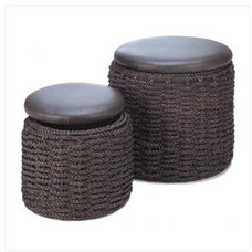 Traditional Ottomans And Cubes by Home 'n Gifts