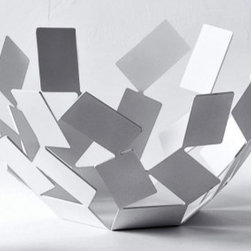 Alessi La Stanza dello Scirocco Fruit Bowl, White - Put your rolls in this artsy ultra-mod bowl, and you're bound to start a few conversations over it.