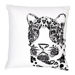 EJH Brand - Leopard Decorative Throw Pillow - Talk about changing your spots! This eye-catching leopard print, screened on an ecofriendly blend of hemp and organic cotton, makes a fierce addition to your favorite setting.