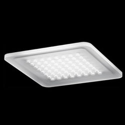 """Nimbus - Modul Q 64 LED ceiling light - Product Details:     The Modul Q 64 LEDrecessed ceiling light by Nimbusis a unique fixture. This luminaire is perfect for a flush ceiling mounting. 100% downlighting, wide beam. The frame is available in 3 variations: brushed stainless steel, anodised silver or brilliant white. For assembly in suspended ceiling or concrete mounting box. External Nimbus converter required. The converter can be integrated in a suspended ceiling/concrete box. Driver not included.  Details:                                  Manufacturer:                            Nimbus                                                            Designer:                            Nimbus                                                Made in:                            Germany                                                Dimensions:                            H: .8"""" (2 cm) X W: 9.4"""" (24 cm) X L: 9.4"""" (24 cm)                                                              Light bulb:                                          1 X 16W LED 3000K Warm Light                                                Material:                            Polyethylene"""