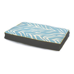 ez living home - Zebra Memory Foam Topper Pillow Bed Turquoise, Large - *Timeless and classic zebra pattern with a modern touch, complements existing room decoration.