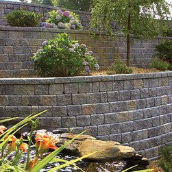 Hardscape Retaining Wall - Roman Pisa - Roman Pisa Retaining Wall - For details and additional information about our hardscape products, please contact us at 330-483-3400 or visit our website at ValleyCitySupply.com