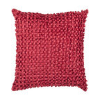 Surya Rugs - Red Loop 18 x 18 Pillow - This pillow brings texture to any space. With a looped design this decorative pillow adds a bit of fun to you room. The color red accents this pillow. This pillow contains a poly fill and a zipper closure. Add this pillow to your collection today.  - Includes one poly-fiber filled insert and one pillow cover.   - Pillow cover material: 100% Polyester Surya Rugs - BB045-1818P