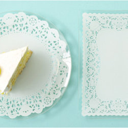 Lace Doily Glass Plates, Set of 4 - These doily plates are a ladylike way to dress up your dessert spread.