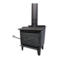 Drolet - Wood Stove On Legs Model Rocket - Small EPA Wood Stove with Solid Cast Iron Door - The Rocket is a high efficiency wood stove among the smallest on the market. This leg model is EPA certified. The Rocket is ideal for small areas that require a limited heating capacity without compromise on the appliance efficiency.