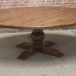 84 round dining table from reclaimed pine - Made by www.ecustomfinishes.com