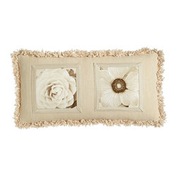 """Dian Austin Couture Home - Framed Blooms Pillow 12"""" x 24"""" - BEIGE (12"""" x 24"""") - Dian Austin Couture HomeFramed Blooms Pillow 12"""" x 24""""Designer About Dian Austin Couture Home:Taking inspiration from fashion's most famous houses of haute couture the Dian Austin Couture Home collection features luxurious bed linens and window treatments with a high level of attention to detail. Acclaimed home designer Dian Austin introduced the collection in 2006 and seeks out extraordinary textiles from around the world crafting each piece with local California artisans."""