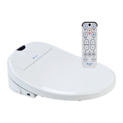 Brondell - Swash 1000 Advanced Bidet Toilet Seat, Elongated, White - Brondell Swash 1000 electronic bidet toilet seat offers endless warm water washes, adjustable heated seat, wireless remote control, stainless steel adjustable nozzles, warm air dryer, deodorizer, nozzle sterilization and more. Easily replaces the existing toilet seat to turn any toilet into a fully functioning bidet. It is the ultimate in luxury and comfort. Imported.