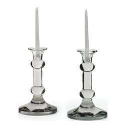 Go Home Ltd - Go Home Ltd Pair Of Knobbed Candlesticks X-63041 - Go Home Ltd Pair Of Knobbed Candlesticks X-63041