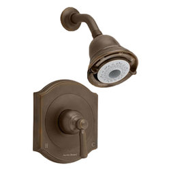 """American Standard - American Standard T420.501.224 Portsmouth Bath/Shower Trim Kit-Oil Rubbed Bronze - American Standard T420.501.224 Portsmouth FloWise Bath/Shower Trim Kit,  Oil Rubbed Bronze. This Shower Only Trim Kit features water saving FloWise 3-function showerhead saving up to 40% in water usage, Cast Brass Valve Body: Durable - Quality that will last a lifetime. Ideal material for prolonged contact with water, Adjustable Hot Limit Safety Stop: Limits the amount of hot water allowed to mix with cold. Reduces the risk of accidental scalding, Wide Rough-in Range: From 1-5/8"""" to 3-1/4""""."""