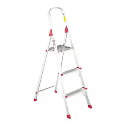 Louisville - Louisville 3 ft. Aluminum Euro Platform Ladder Multicolor - DADL234603 - Shop for Ladders from Hayneedle.com! The Louisville 3 ft. Aluminum Euro Platform Ladder features an all-aluminum construction with a locking platform and top safety rail. Serrated steps and slip-resistant foot caps add additional safety and security. Ideal for home office or jobsite use.About Louisville LadderSince 1946 Louisville Ladder has been a leader in ladder manufacturing and distribution. Through innovation and invention Louisville has become a world-wide name with many of its products being the first of their kind. Today Louisville continues to develop market and distribute the highest quality products with a strong distribution presence in the US and Canada.