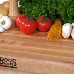 "John Boos - 1.5"" Thick Maple Edge Grain Countertop - 25""W - Maple butcher block counters manufactured by John Boos & Co. Available in a range of thicknesses, lengths & widths. Will make to order to custom dimensions."