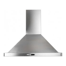 """Cavaliere - 218 SV218B2-36 36"""" Wall Mount Range Hood With 900 CFM  Dishwasher Safe Six Layer - The SV218B2 wall mount range hood comes in two different sizes 30 and 36 This range hood is controlled by an electronic button control panel with LED display giving this range hood a modern look Each of the 6 fan speed comes with its own LED color ma..."""