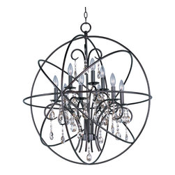 Maxim Lighting - Maxim Lighting 25145OI Orbit Oil Rubbed Bronze 9 Light Chandelier - Maxim Lighting 25145OI Orbit Oil Rubbed Bronze 9 Light Chandelier