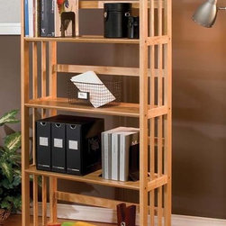 None - Mission-style Solid Wood Bookcase - Practical solid wood bookshelves provide endless storage in any home. This lovely,mission-inspired piece features clean lines and is constructed of Asian hardwood for durability. It works well in any style of decor,from rustic to modern.