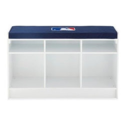 Owner's Box, Llc - MLB 3-Cube Bench Organizer in White - Organize your home or office with MLB 3-Cube Bench Organizer. Designed perfectly to keep you organize, this piece features colorful graphics on 3 sides and can be used as a storage unit or a media and book case.
