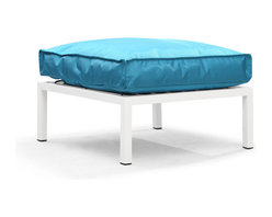 Zuo Modern - Zuo Modern Copacabana Ottoman in Turquoise - Ottoman in Turquoise belongs to Copacabana Collection by Zuo Modern The Copacabana collection is designed for funky versatility. This set has modular pieces of an armless chair, a corner armchair, an ottoman, and a table. The cover is made from a completely waterproof and UV resistant polyester fiber. The frame is made from an epoxy coated aluminum. The fill is 100% pure polystyrene beads. All the cushions can be attached via durable oversize zipper. Have fun with the cushions and throw them in the pool...they will float! Ottoman (1)
