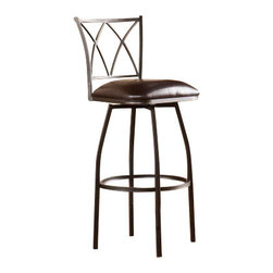 Holly and Martin - Kensington Adjustable Counter/Bar Stool - Raise the bar in convenient seating! This adjustable stool is the perfect option for fashionable bar or counter seating.