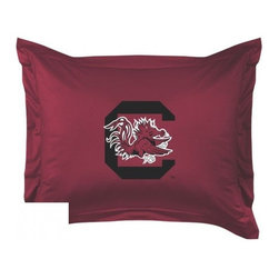 Sports Coverage - South Carolina Gamecocks Locker Room Collection Pillow Sham - Show your team spirit with this officially licensed 25 x 31 South Carolina Gamecocks sham. There is a 2 flanged edge that decorates all four sides of each South Carolina NCAA sham. Made of 100% polyester jersey mesh, just like the players wear, with screen printed South Carolina Gamecocks logo in the center. Envelope closure in back. Fits standard pillow. Coordinates with South Carolina Locker Room Collection. 3 overlapping envelope closure is on back.