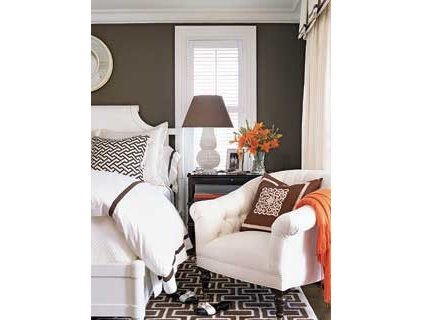 Contemporary  Graphic Pattern Guest Bedroom - MyHomeIdeas.com
