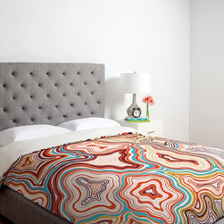 DENY Designs - Deny Designs Khristian A Howell Sedona Duvet Cover Multicolor - 14423-DUWTWI - Shop for Duvets from Hayneedle.com! With its juicy colors and abstract design the Deny Designs Khristian Howell Sedona Duvet Cover makes it a snap to change the entire look of your bedroom. This original design form Khristian Howell is made of ultra soft microfiber and simply slips over your existing comforter for a look you can't deny. About DENY DesignsDenver Colorado based DENY Designs is a modern home furnishings company that believes in doing things differently. DENY encourages customers to make a personal statement with personal images or by selecting from the extensive gallery. The coolest part is that each purchase gives the super talented artists part of the proceeds. That allows DENY to support art communities all over the world while also spreading the creative love! Each DENY piece is custom created as it's ordered instead of being held in a warehouse. A dye printing process is used to ensure colorfastness and durability that make these true heirloom pieces. From custom furniture pieces to textiles everything made is unique and distinctively DENY.