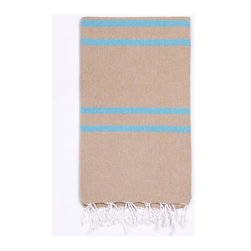 Turkish-T - Basic Bath Turkish-T, Beach Sand - Loomed in the world's finest textile region, this Turkish bath towel is both eco-friendly and lavish. Quick-drying and thin, this luxury beach towel is more lightweight, multifunctional, and long-lasting than a terry cloth towel. Complete with hand-tied fringe, the 100% cotton Basic Bath makes the perfect beach towel, bath sheet, sarong, tablecloth, scarf, and much more. Machine wash on cool. Tumble dry on low heat. Colors do not bleed or fade with wash.