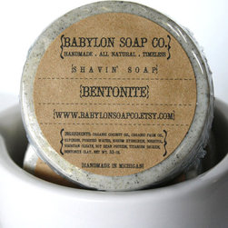 Bentonite Clay Exfoliating Glycerin Mens Shaving Soap by Babylon Soap Co - This bathing bar is perfect for exfoliating all of the basketball sweat and football dirt off of your boy. Plus, this natural soap contains antioxidants and a creamy moisturizer, which make it perfect to use as a shaving soap.