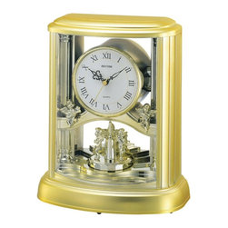 Rhythm Clocks - Angel Musical Anniversary Clock Gold - At the top of each hour, the MAGIC Begins!